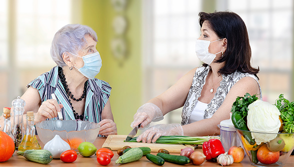 Caregiver and Woman _Vegetables