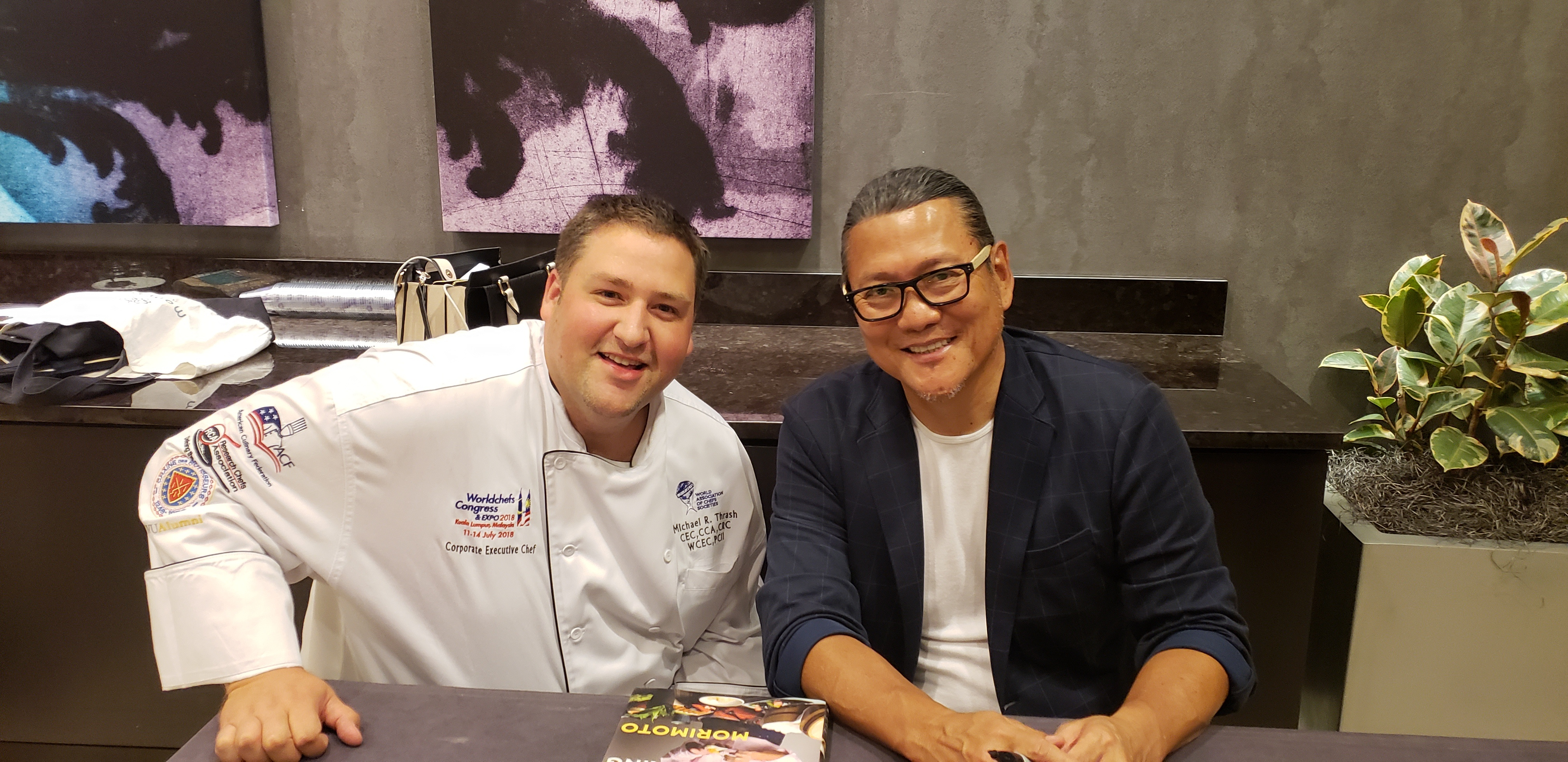 Executive Chef Michael Thrash and Iron Chef Morimoto