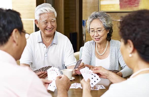 Senior Card Players