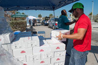 Providing Emergency Meals for Hurricane Victims - During a Hurricane!